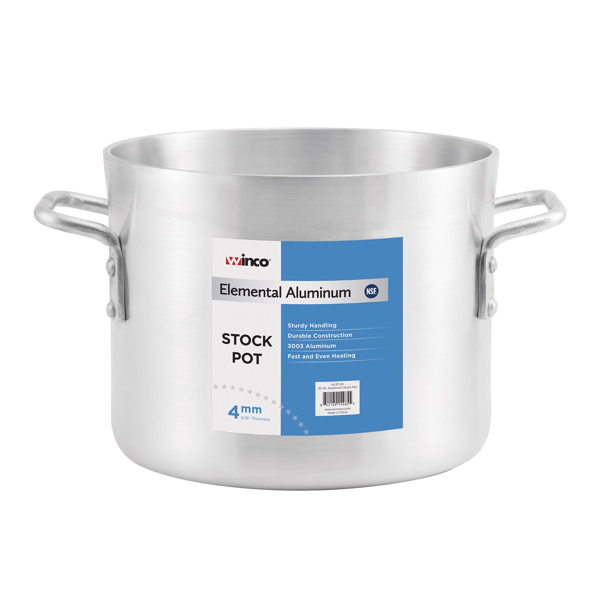 Winco ALST-100 100 qt Aluminum Stock Pot