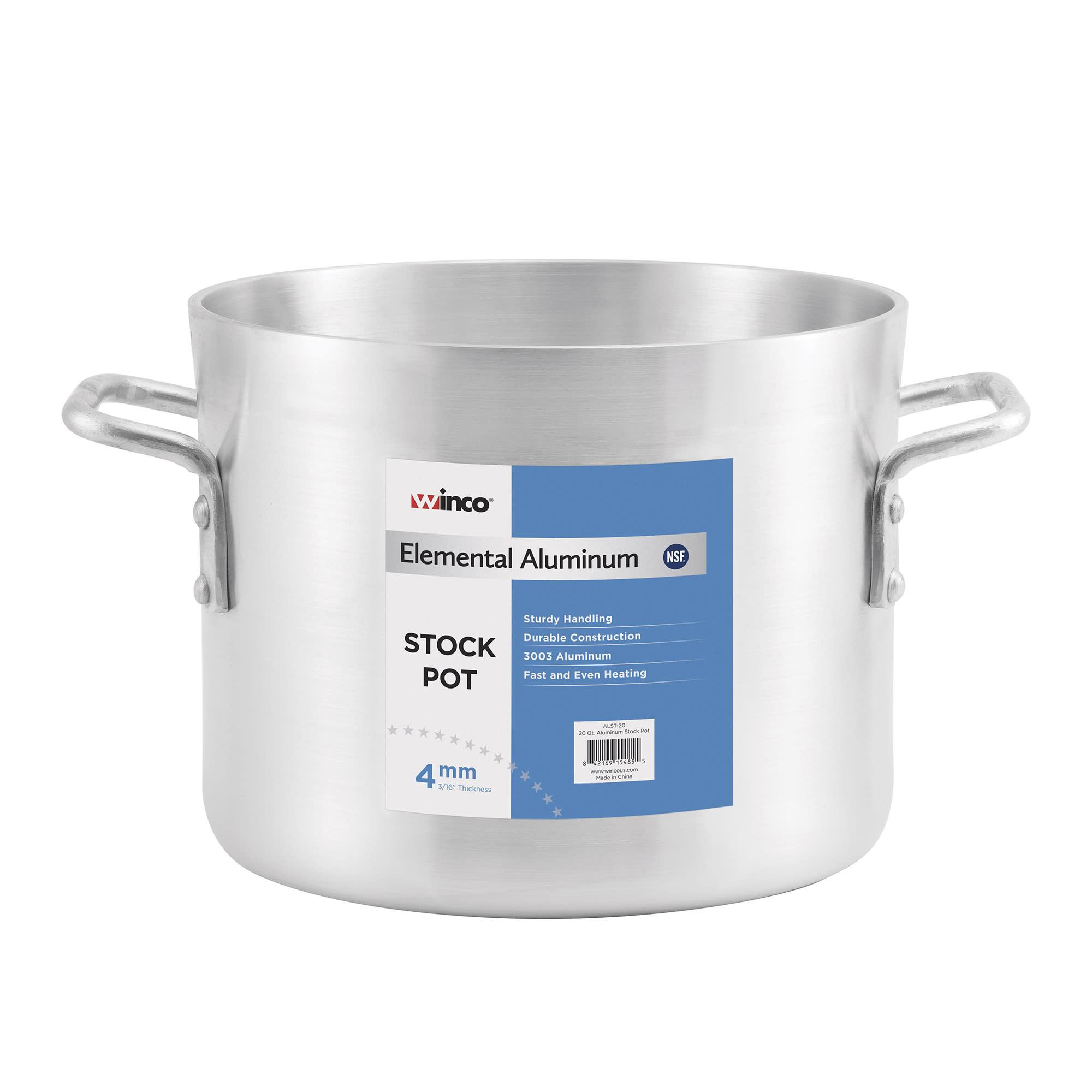 Winco ALST-80 80-qt Aluminum Stock Pot