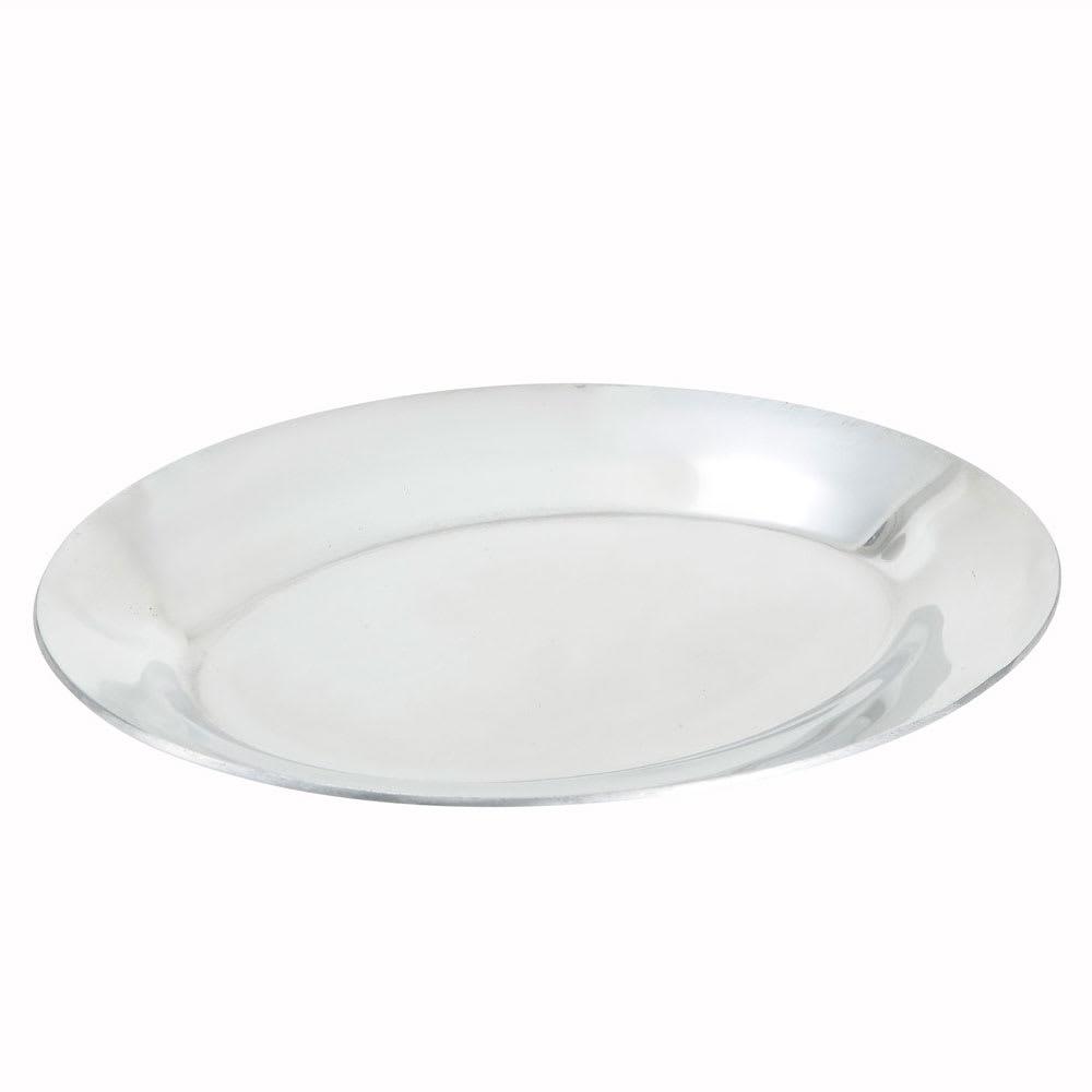 "Winco APL-10 10"" Oval Sizzling Platter, Aluminum"
