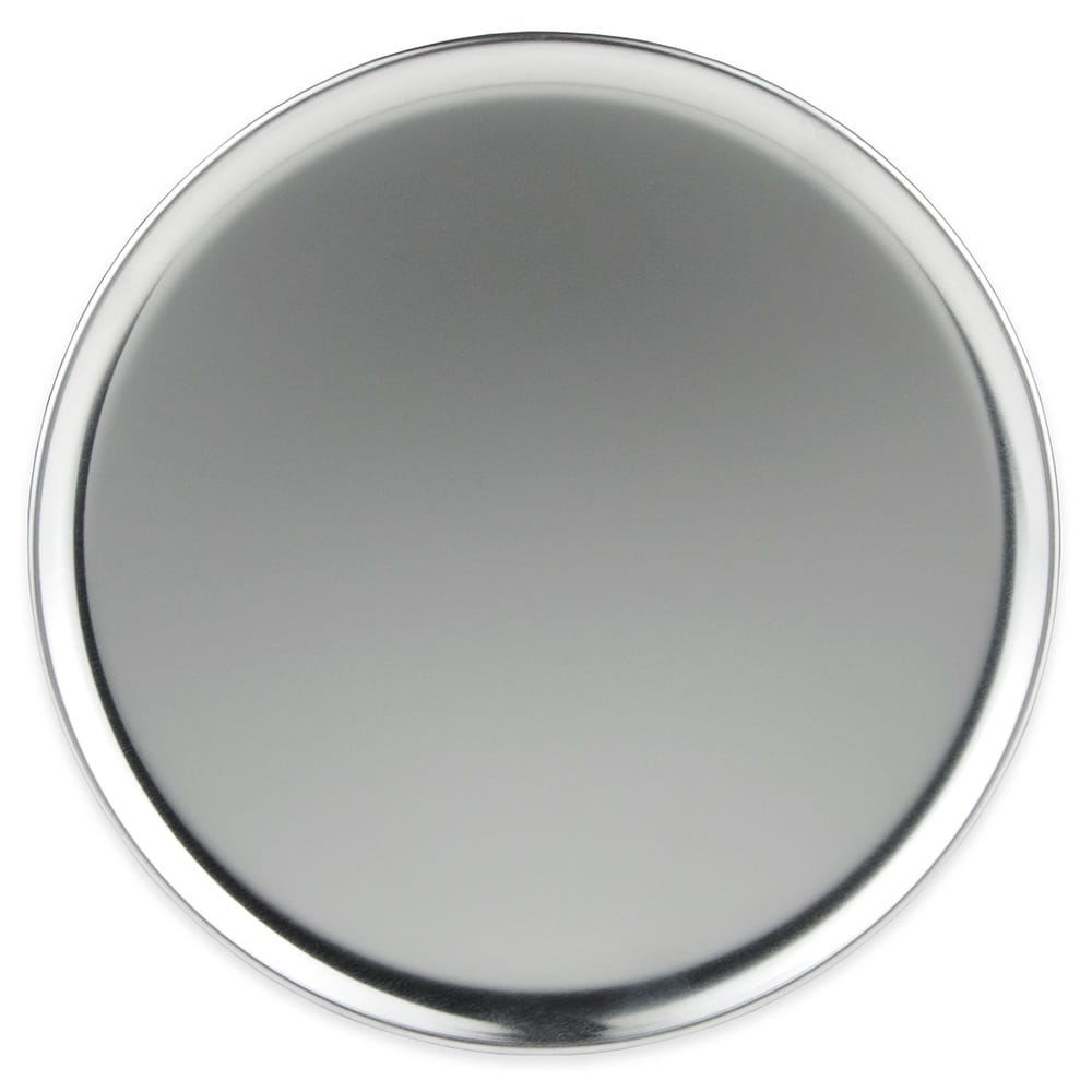 "Winco APZC-11 11"" Round Coupe Pizza Pan, Aluminum"