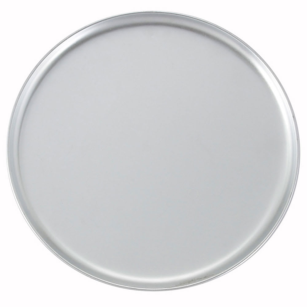 "Winco APZC-13 13"" Round Coupe Pizza Pan, Aluminum"