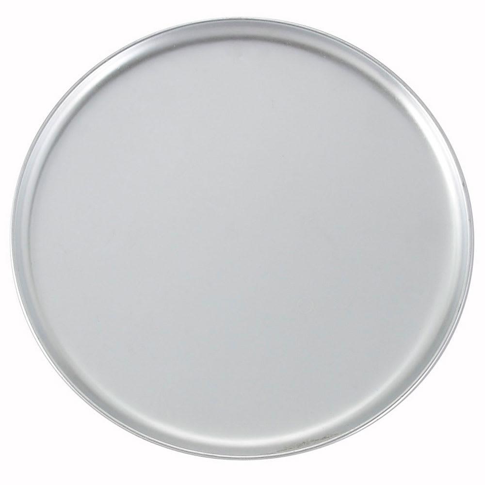 "Winco APZC-14 14"" Round Coupe Pizza Pan, Aluminum"