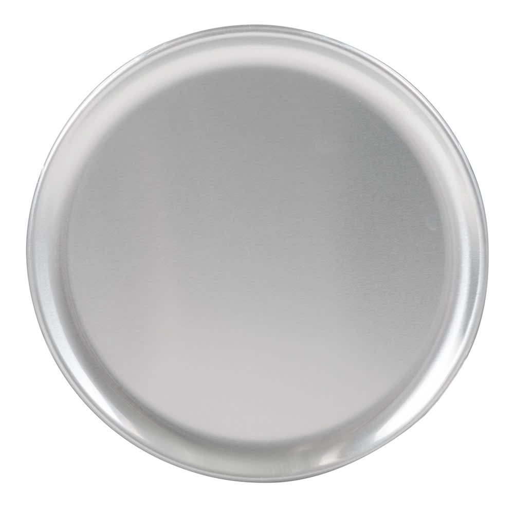 "Winco APZC-8 8"" Round Coupe Pizza Pan, Aluminum"