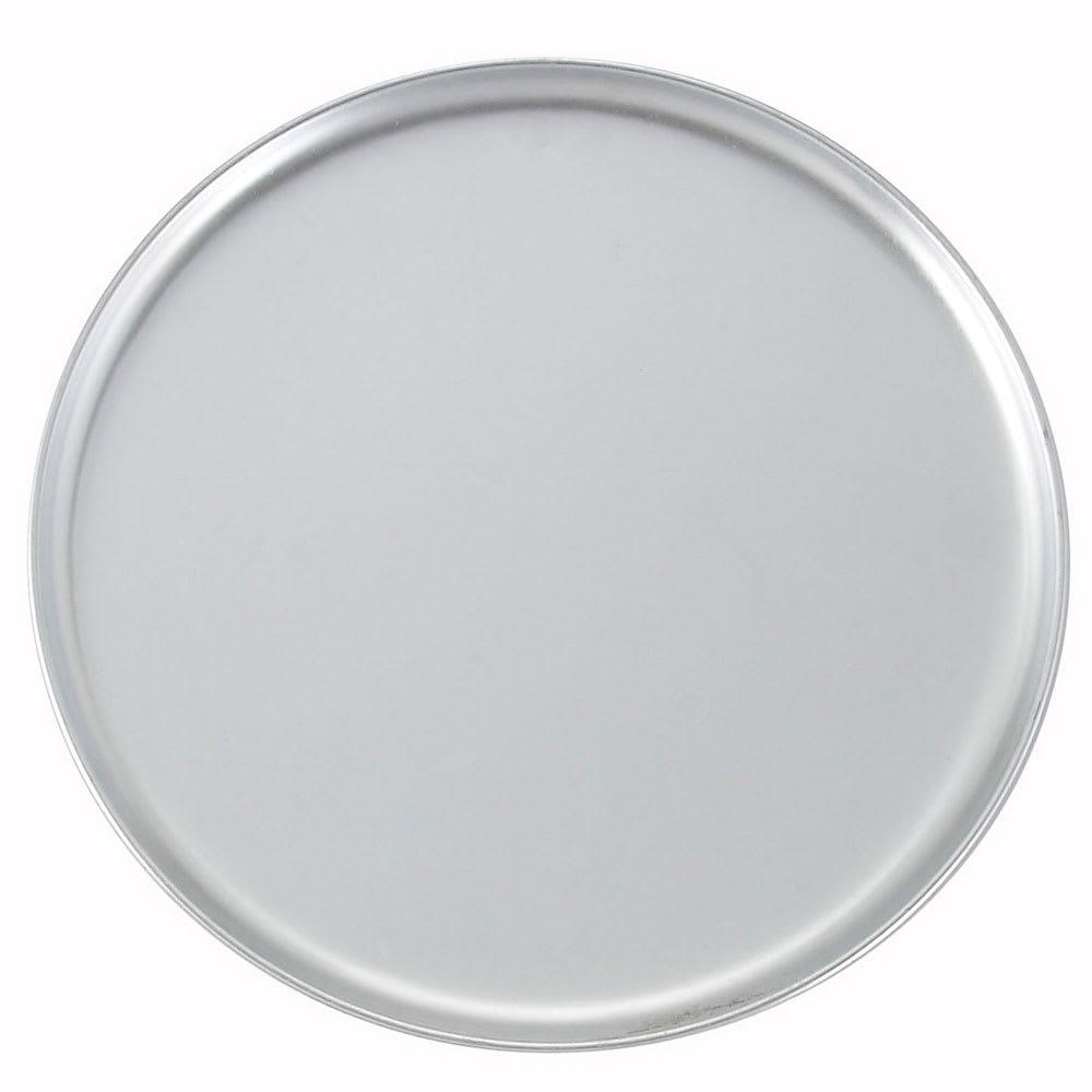 "Winco APZC-9 9"" Round Coupe Pizza Pan, Aluminum"