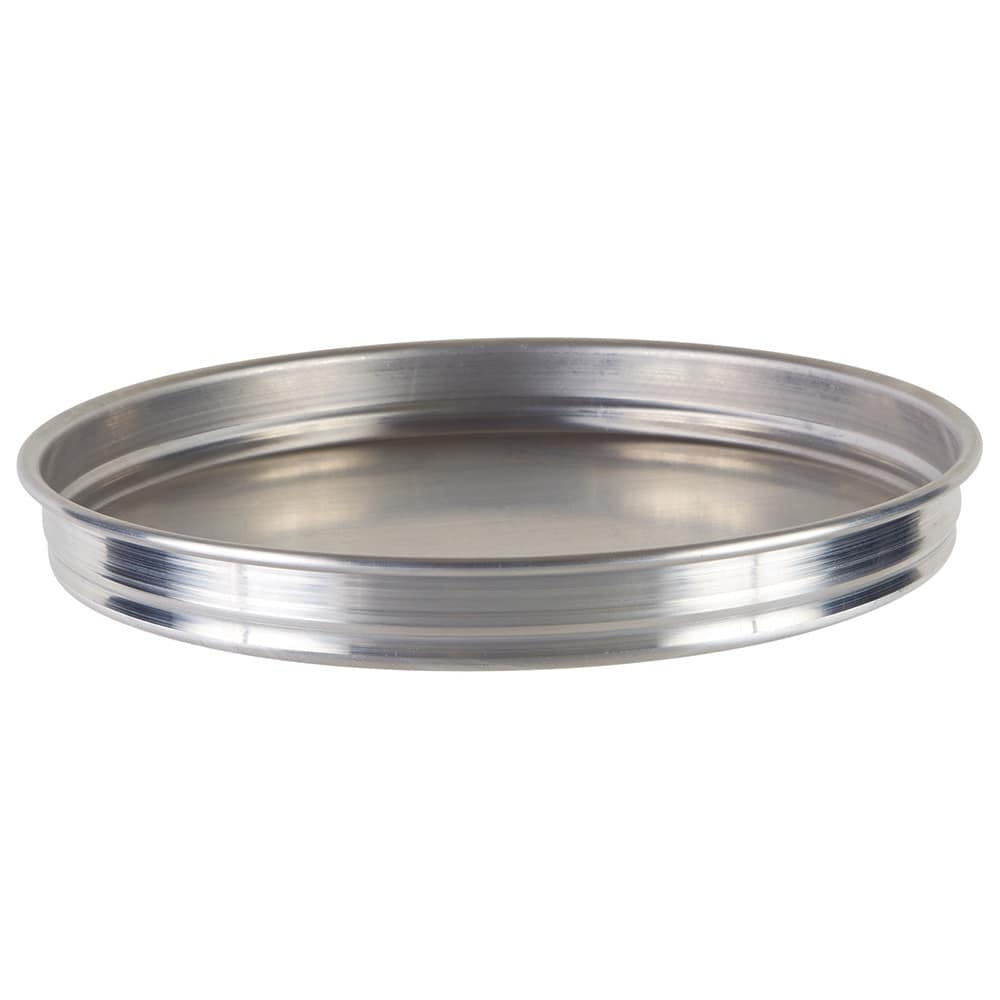 "Winco APZK-1015 10"" Round Pizza Pan - 1.5"" Deep, Aluminum"