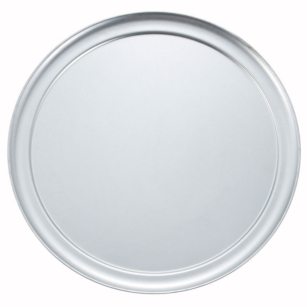 "Winco APZT-14 Pizza Pan, 14"" Diameter, Wide Rim, Aluminum"