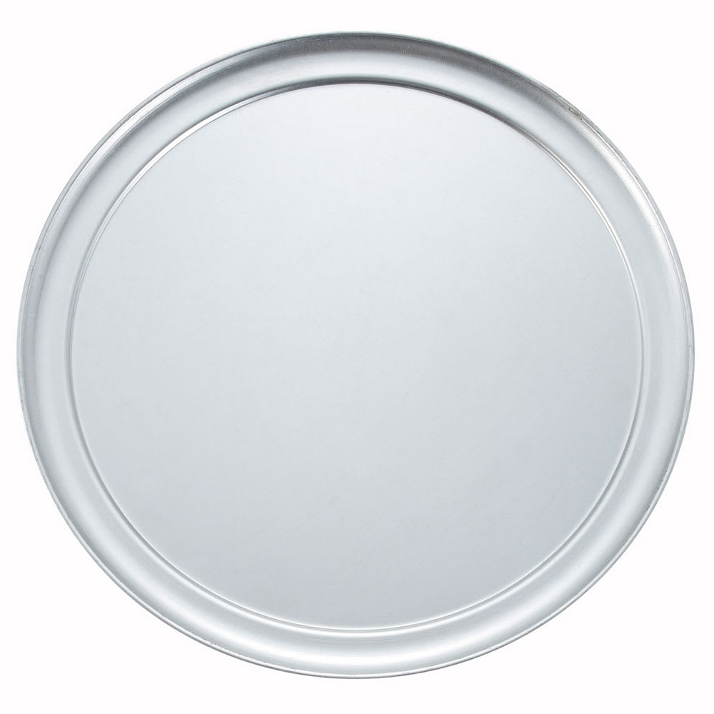 "Winco APZT-15 15"" Round Wide Rim Pizza Pan, Aluminum"