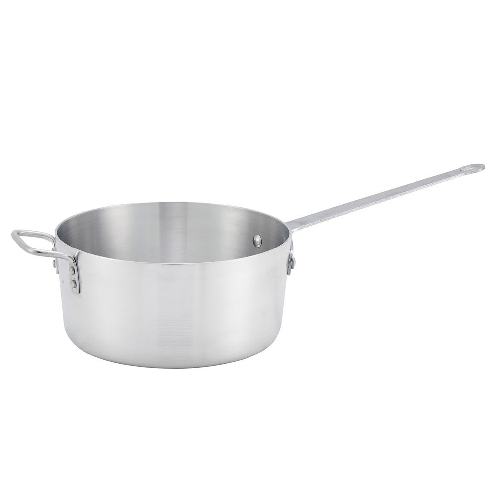 Winco ASP-10 10-qt Aluminum Saucepan w/ Solid Metal Handle