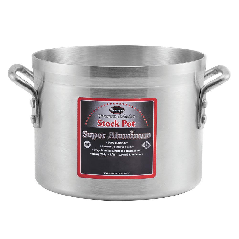 """Winco AXAP-34 34-qt Aluminum Sauce Pot - 16"""" x 10"""""""