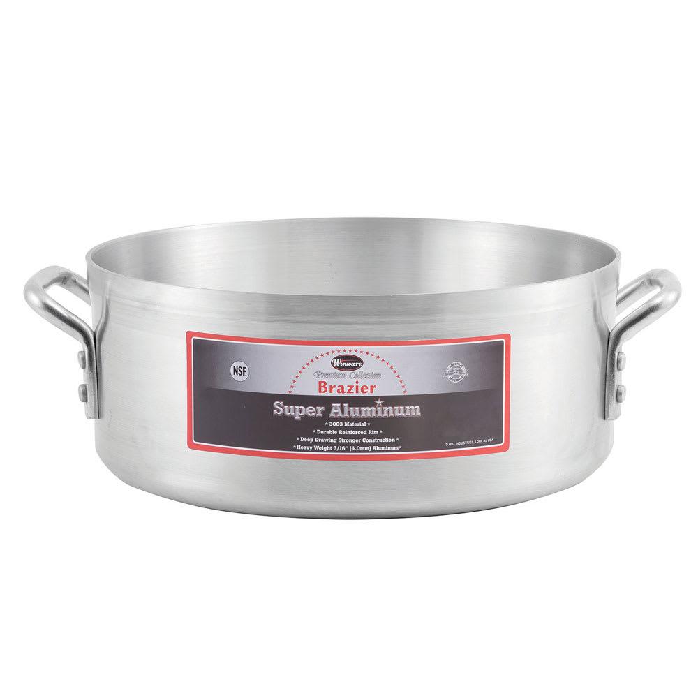 Winco AXBZ-24 24 qt Aluminum Braising Pot