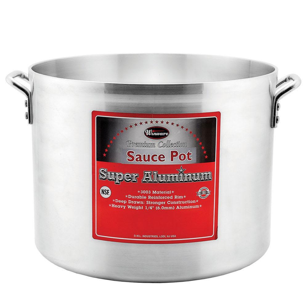 """Winco AXHA-40 40 qt Aluminum Sauce Pot - 16"""" x 11.75"""""""