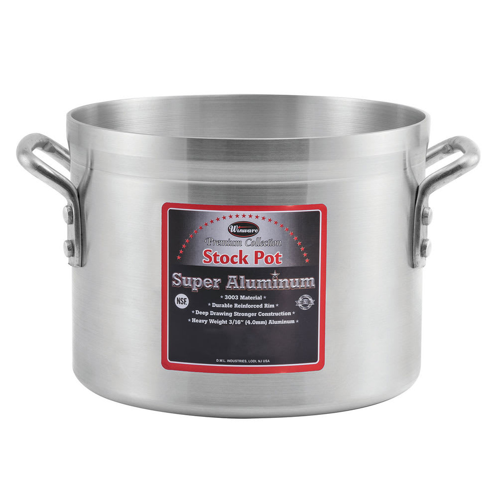 Winco AXS-32 32 qt Aluminum Stock Pot