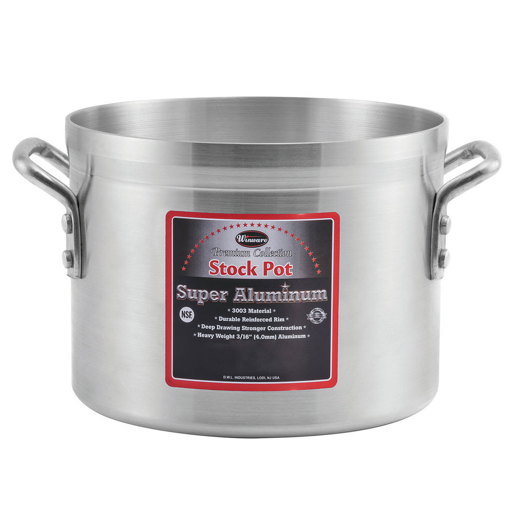 Winco AXS-40 40-qt Aluminum Stock Pot