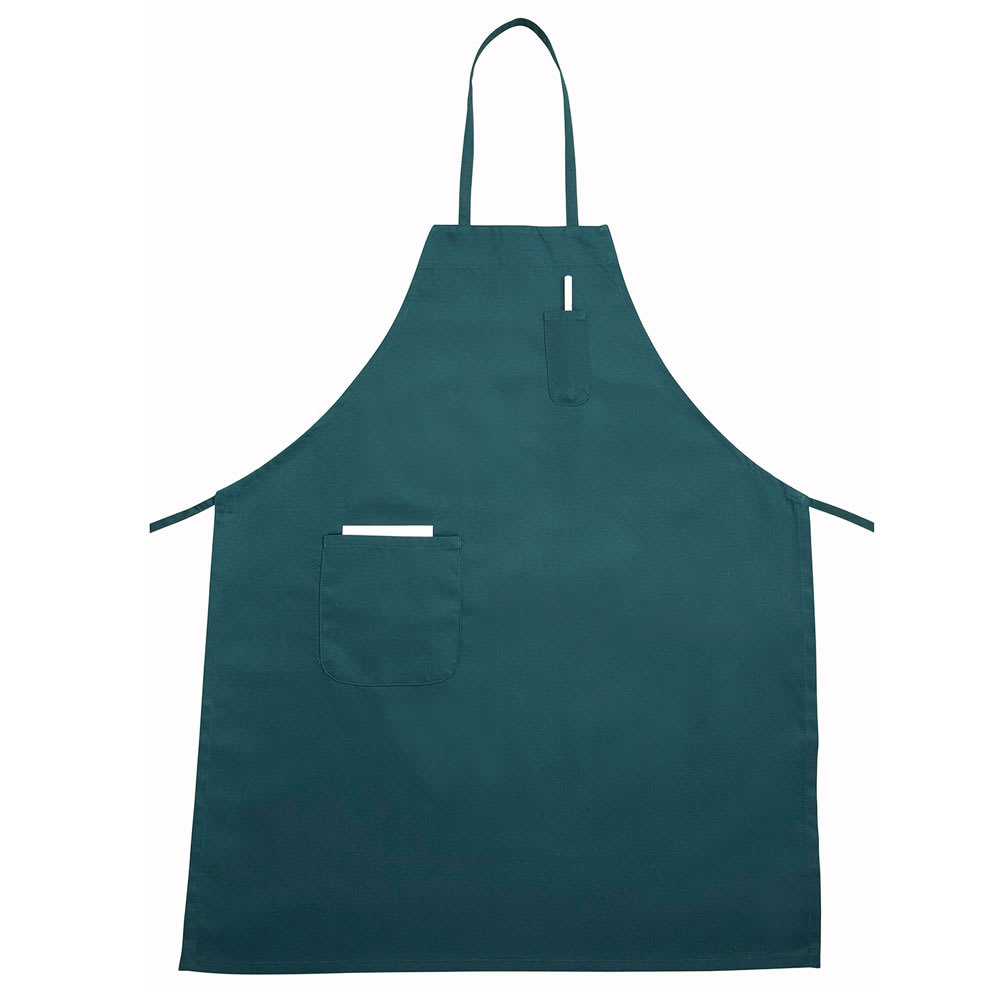Winco BA-PGN Bib Apron w/ Pocket, Green
