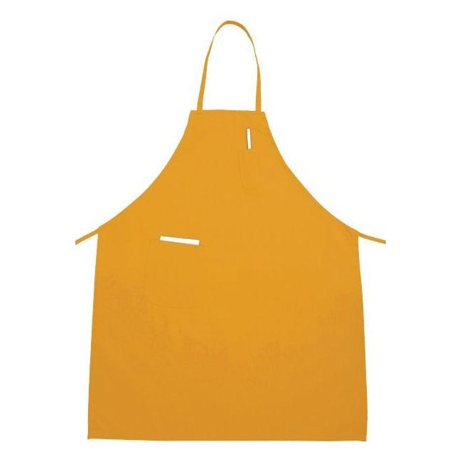 """Winco BA-PYL 2 Pocket Bib Apron - 31"""" x 26"""", Cotton/Poly, Yellow"""