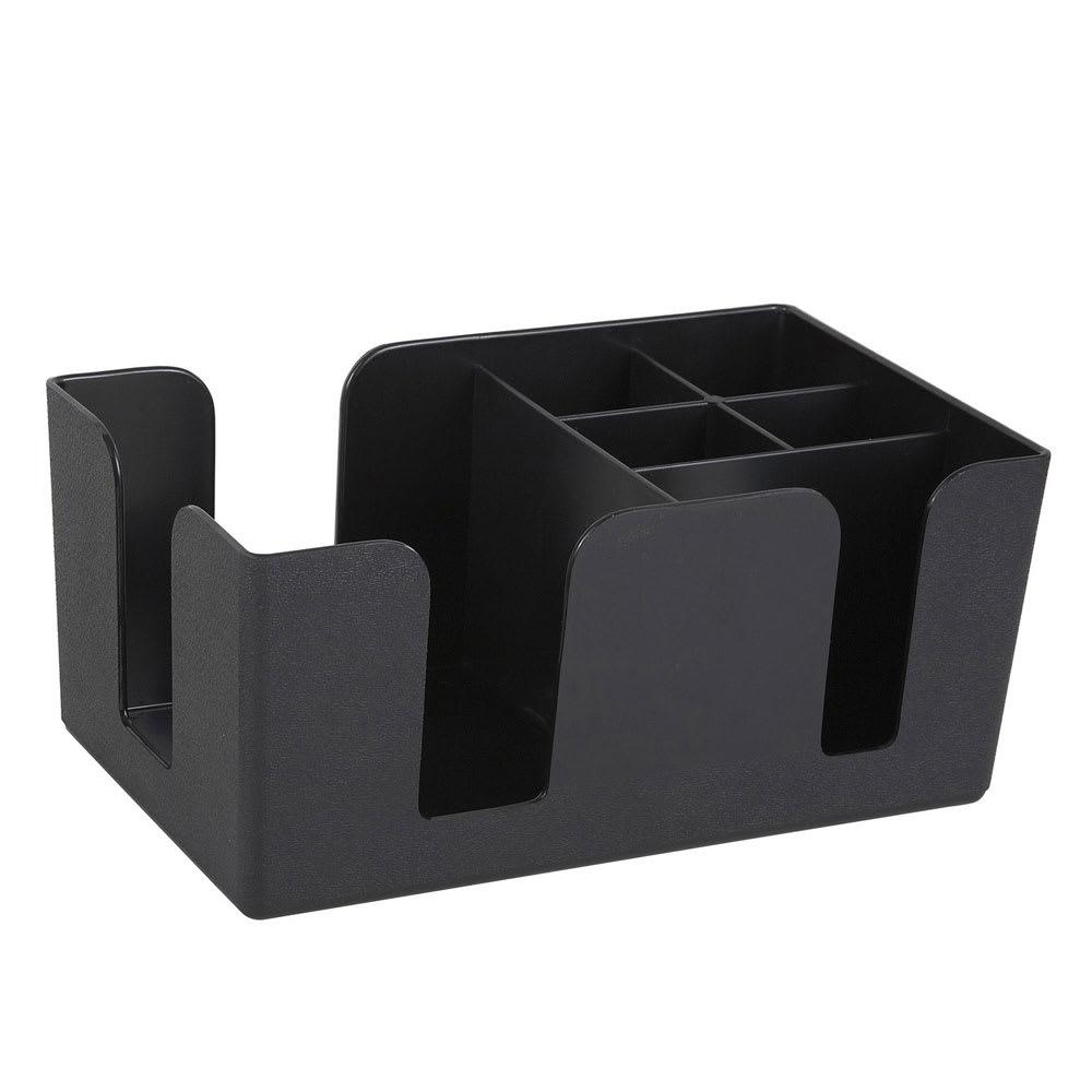 Pleasant Winco Bc 6 Plastic Bar Caddy W 6 Compartments Black Download Free Architecture Designs Scobabritishbridgeorg