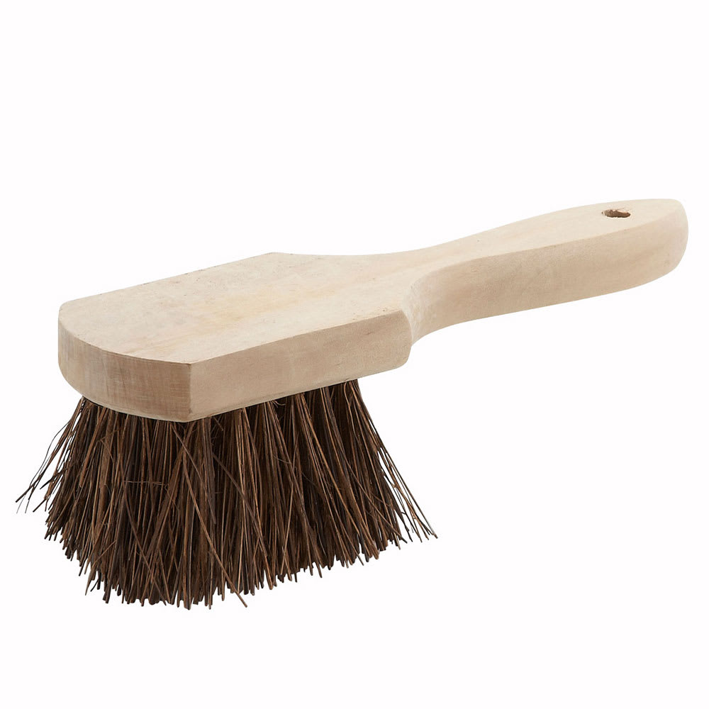 "Winco BRP-10 10"" Pot Brush w/ Wood Handle"