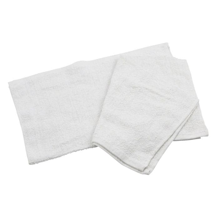 "Winco BTW-30 White Cotton Bar Towel, 16"" x 19"""