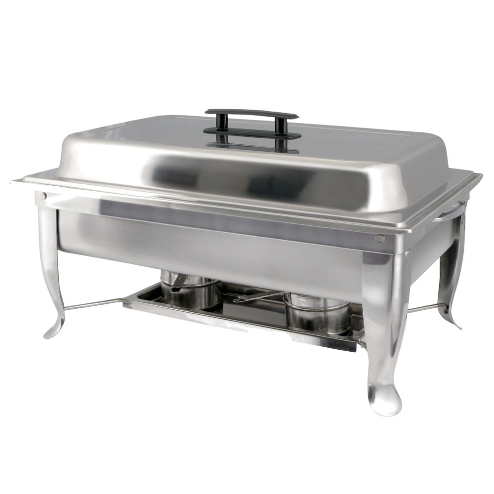 Winco C-1080 Eco-Chafer w/ Polished Cover & Folding Frame