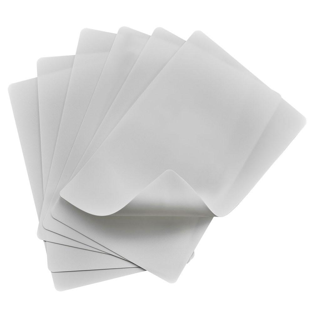 "Winco CBF-1218W Cutting Mat Set - (6) 12x18"", Flexible, White"