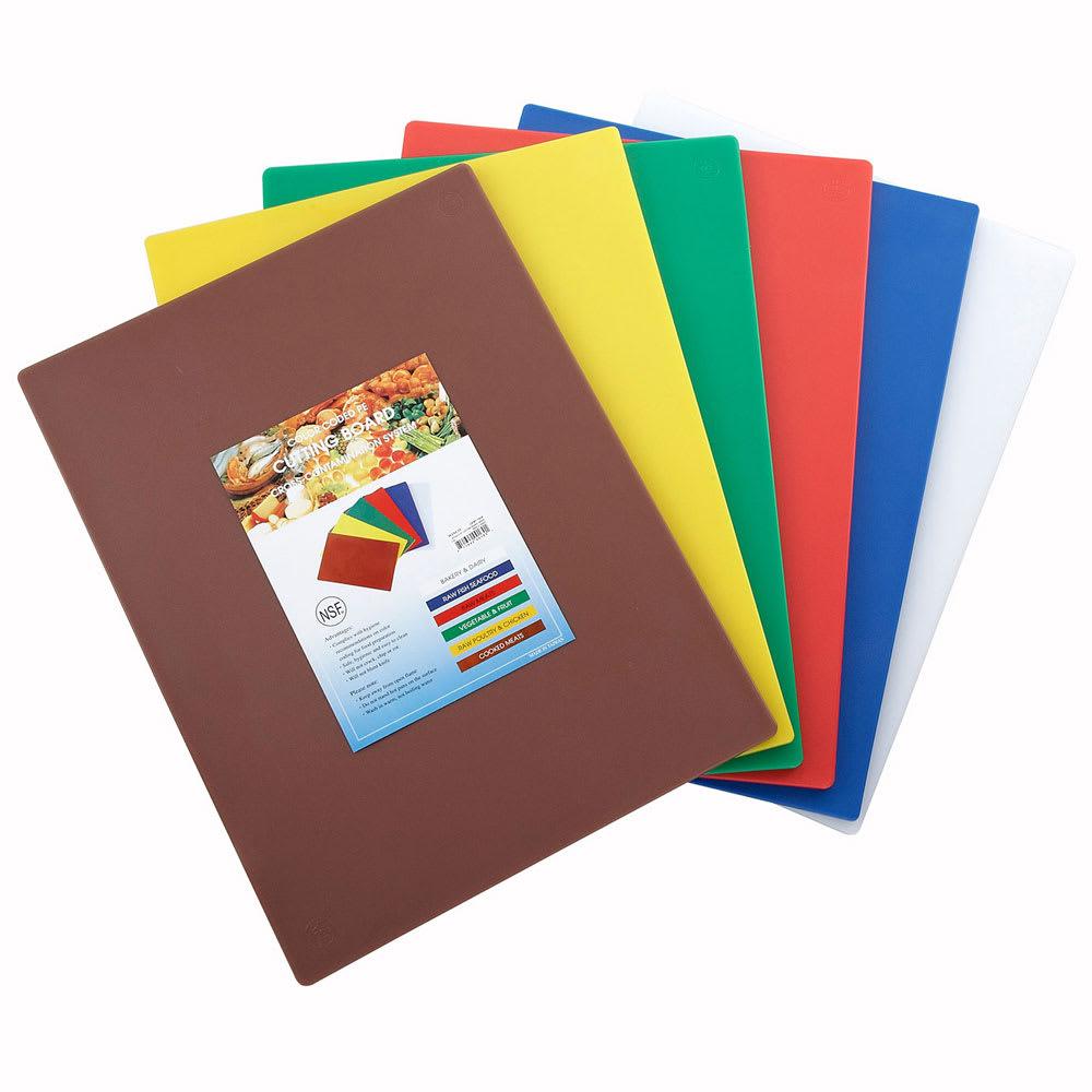 "Winco CBST-1824 Cutting Board Set, 18 x 24 x .5"", Mixed Colors"