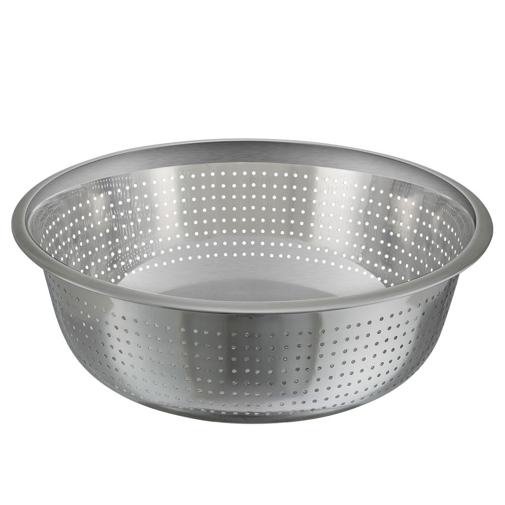 "Winco CCOD-15S 15"" Chinese Colander w/ 2.5mm Holes, Stainless"
