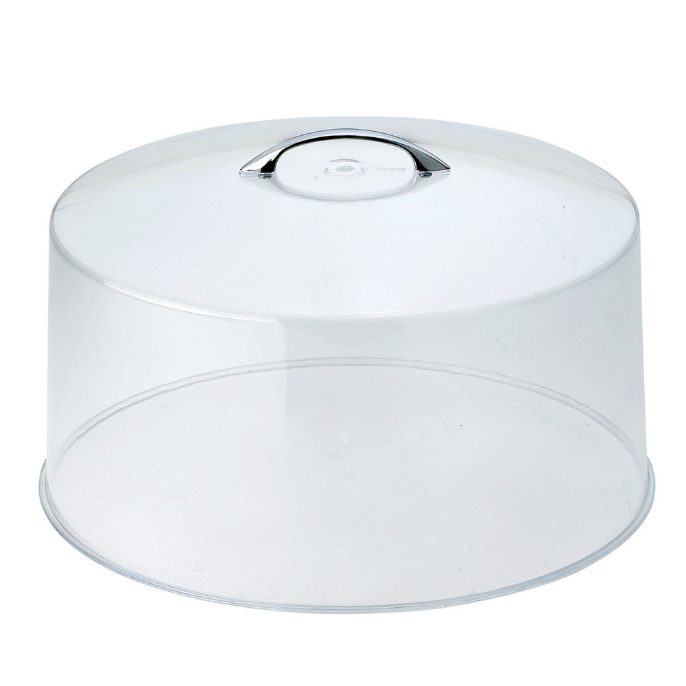 "Winco CKS-13C 12"" Round Cake Stand Cover, Acrylic"