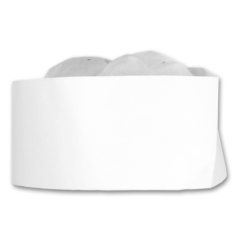 """Winco DCH-3 3"""" Disposable Chef Hat"""