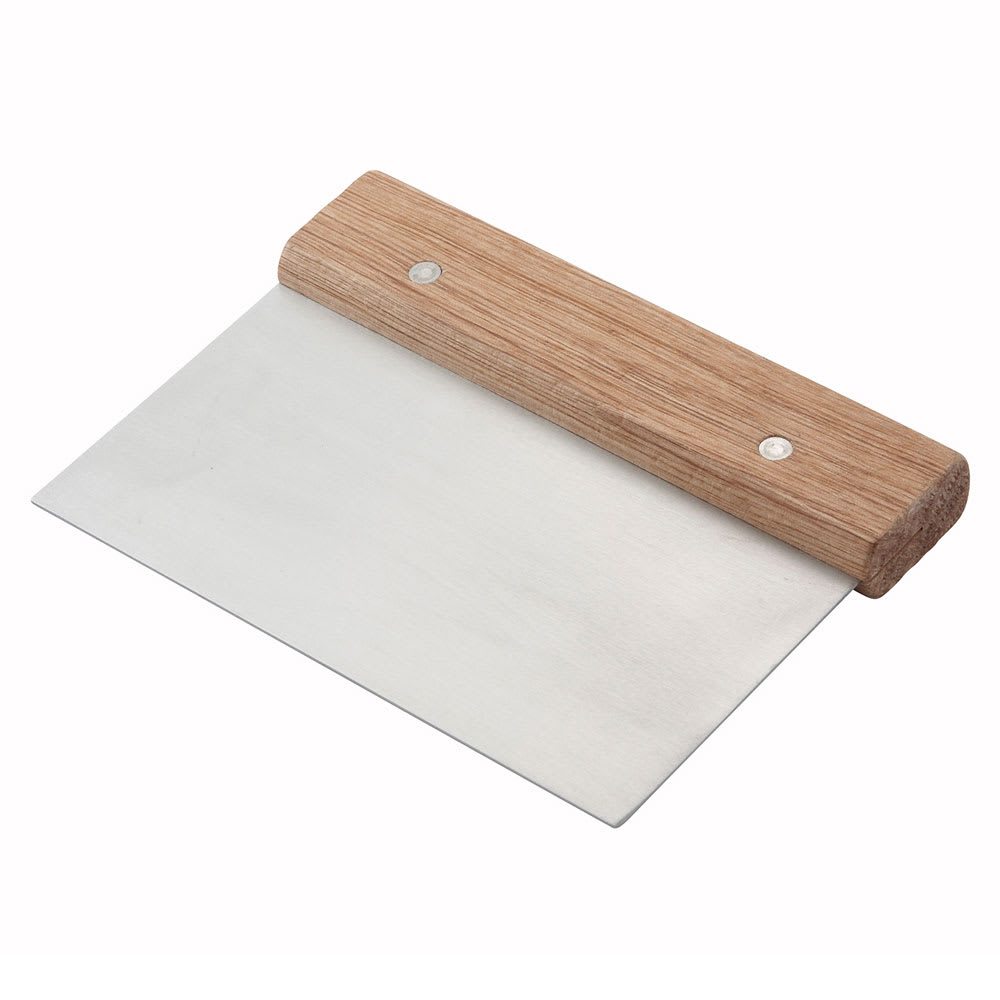 Winco DSC-3 Dough Scraper w/ Wooden Handle