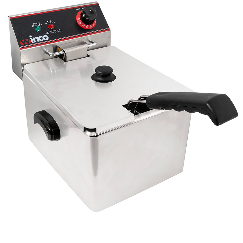 Winco EFS-16 Countertop Electric Fryer - (1) 16-lb Vat 120v