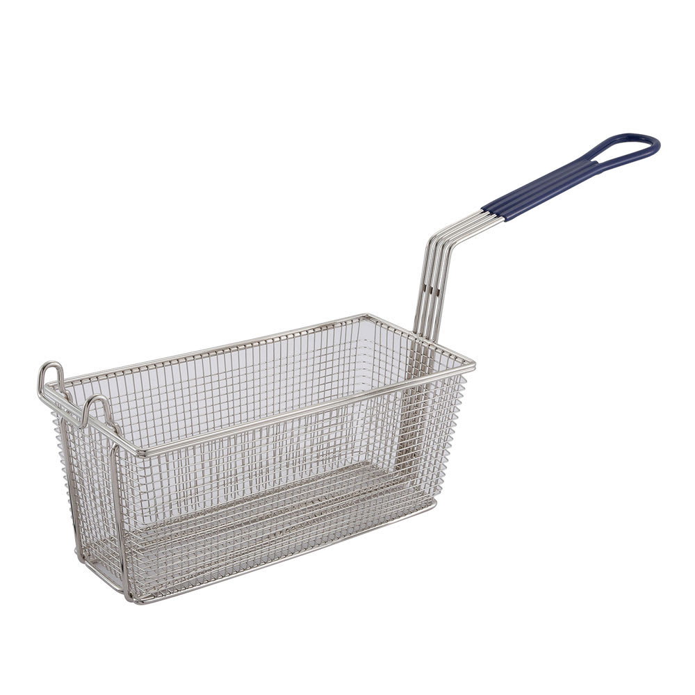 "Winco FB-20 Fryer Basket w/ Coated Handle & Front Hook, 13.25"" x 5.625"" x 5.625"""