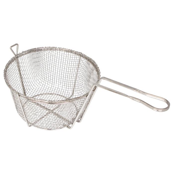 "Winco FBR-8 Fryer Basket w/ Uncoated Handle, 8.5"" x 8.5"" x 4.5"""