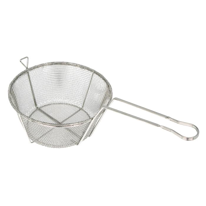"Winco FBRS-8 Fryer Basket w/ Uncoated Handle, 8.5"" x 8.5"" x 4.25"""