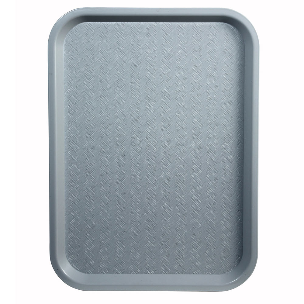 "Winco FFT-1014E Plastic Fast Food Tray - 14""L x 10""W, Gray"