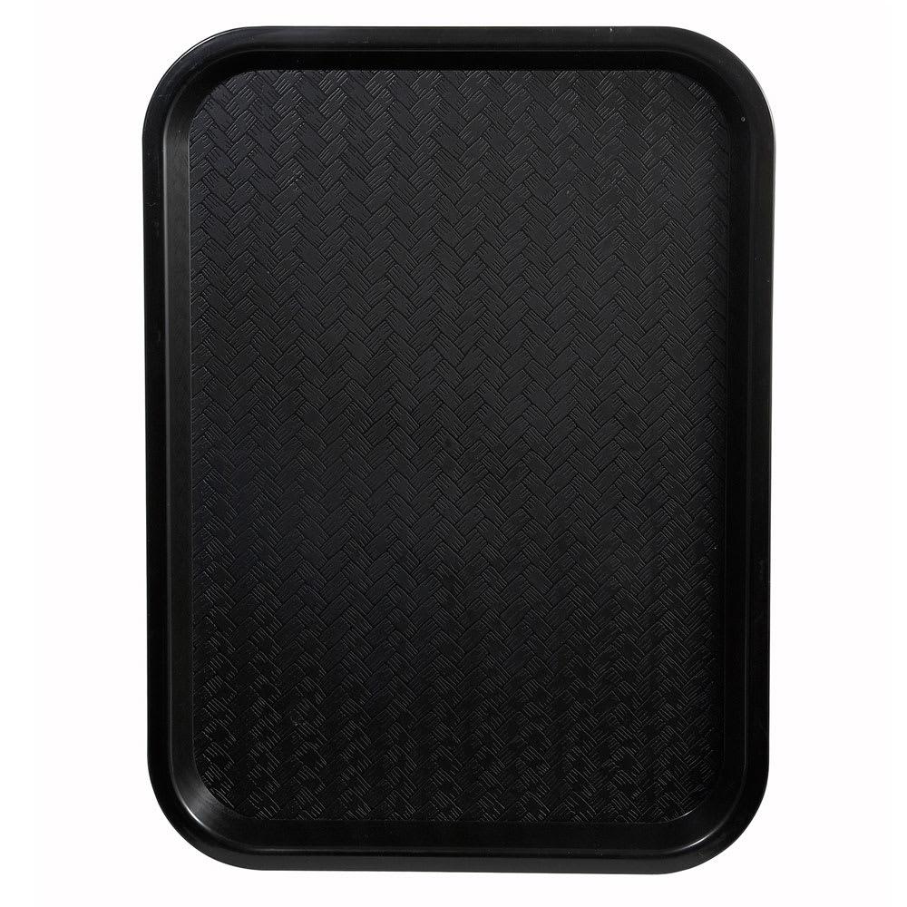 """Winco FFT-1014K Fast Food Tray, 10 x 14"""", Black"""