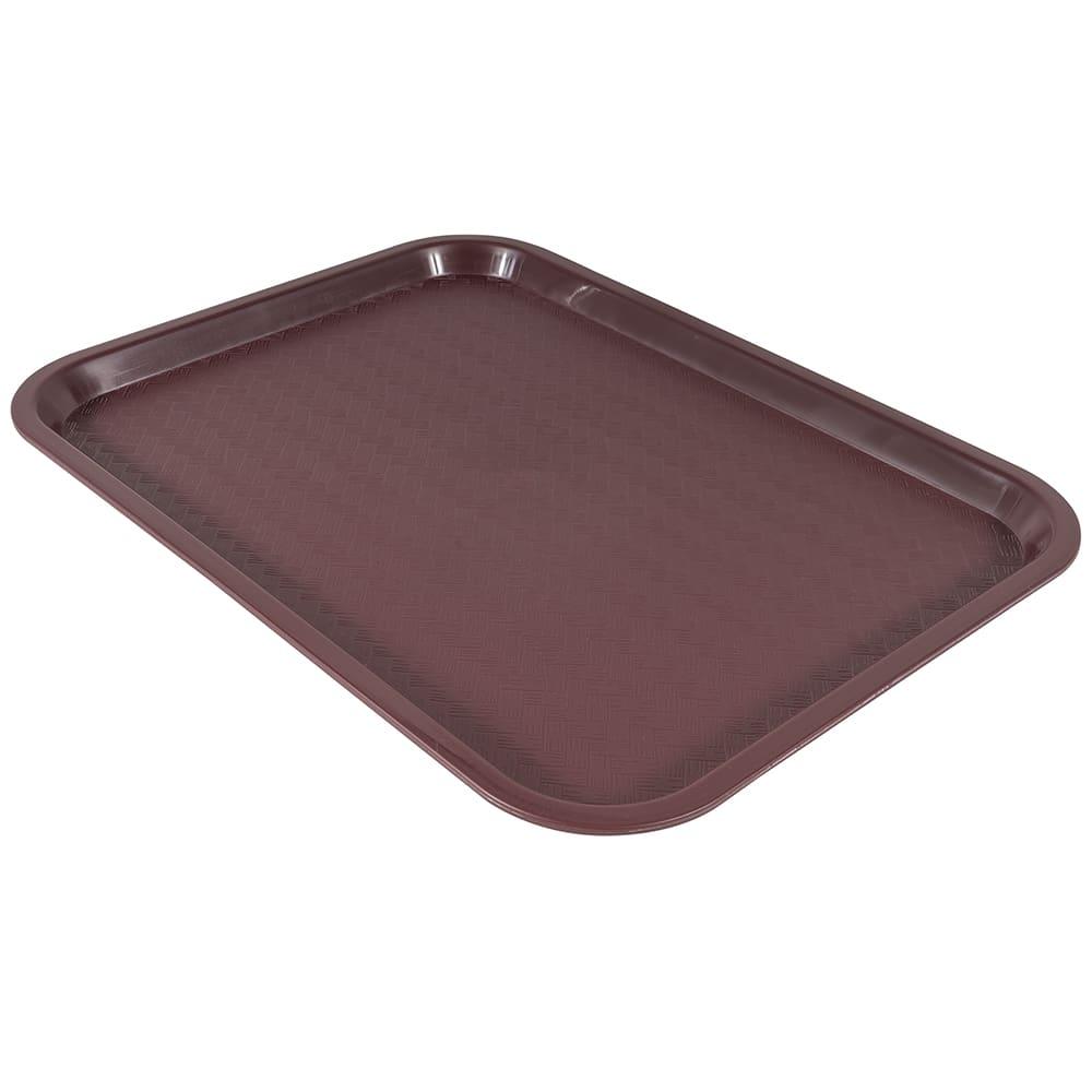 """Winco FFT-1216U Plastic Fast Food Tray - 16""""L x 12""""W, Burgundy"""