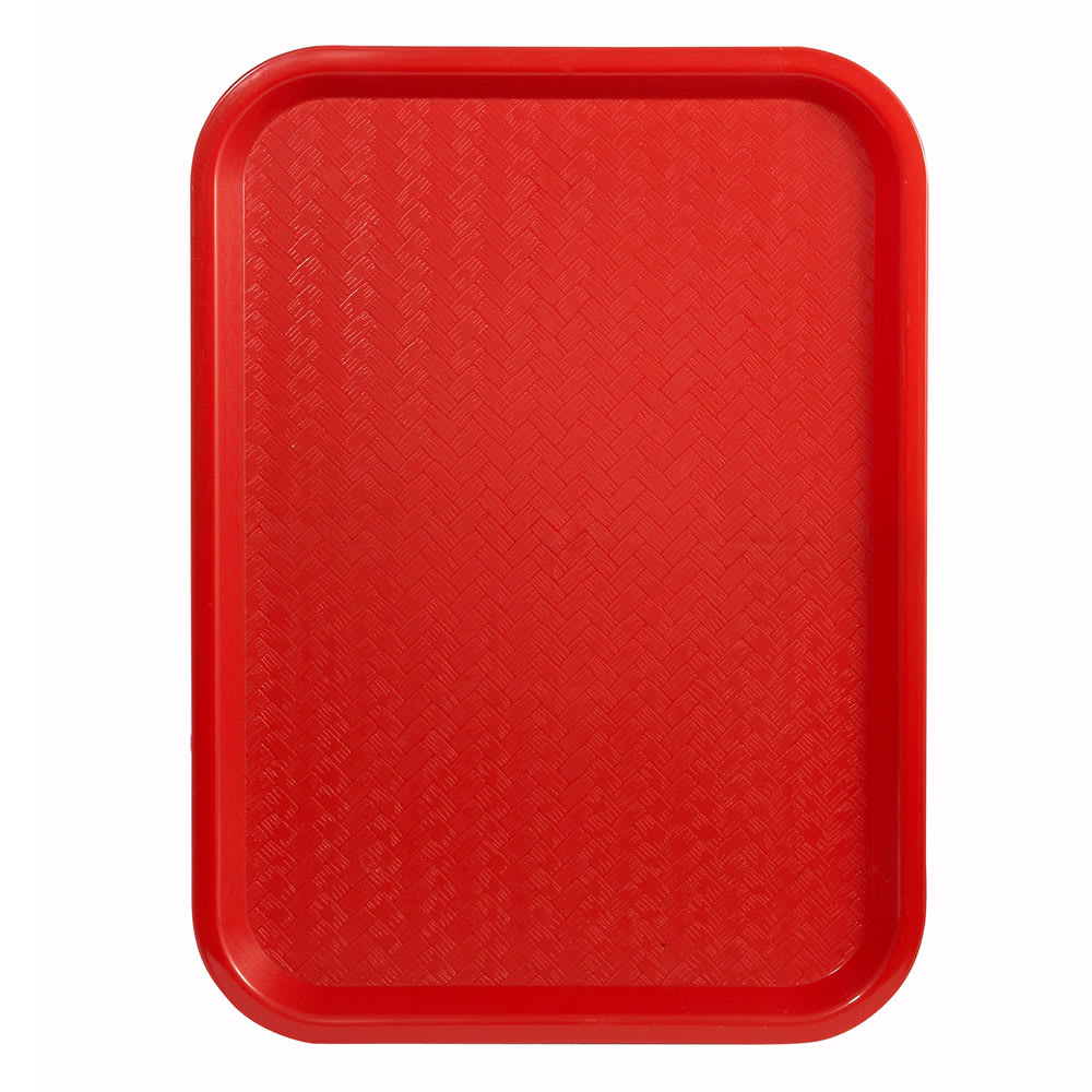 "Winco FFT-1418R Fast Food Tray, 14 x 18"", Red"