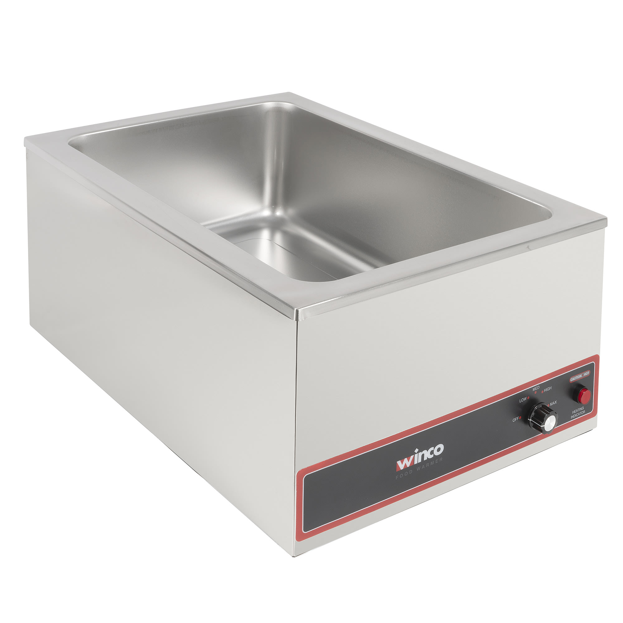 Winco FW-S500 Electric Food Warmer, 6 gal Capacity, 1200W, 120v