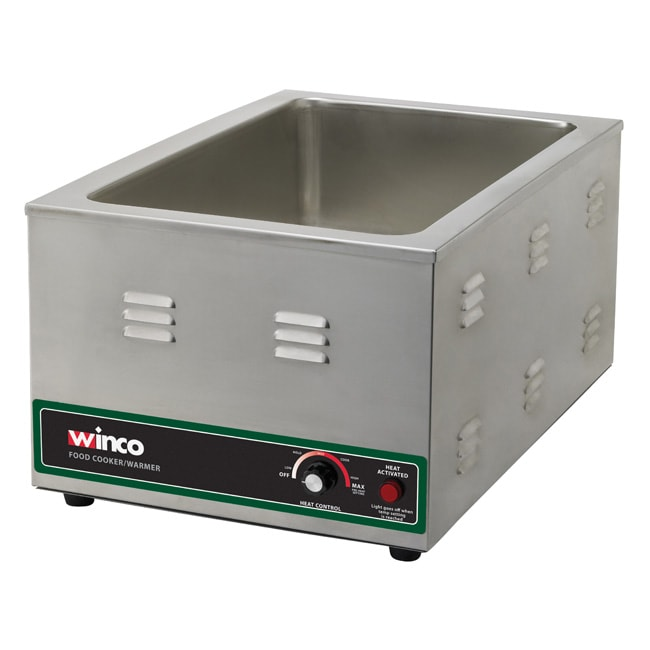 Winco FW-S600 Food Cooker/Warmer - Countertop,  Stainless, 120v