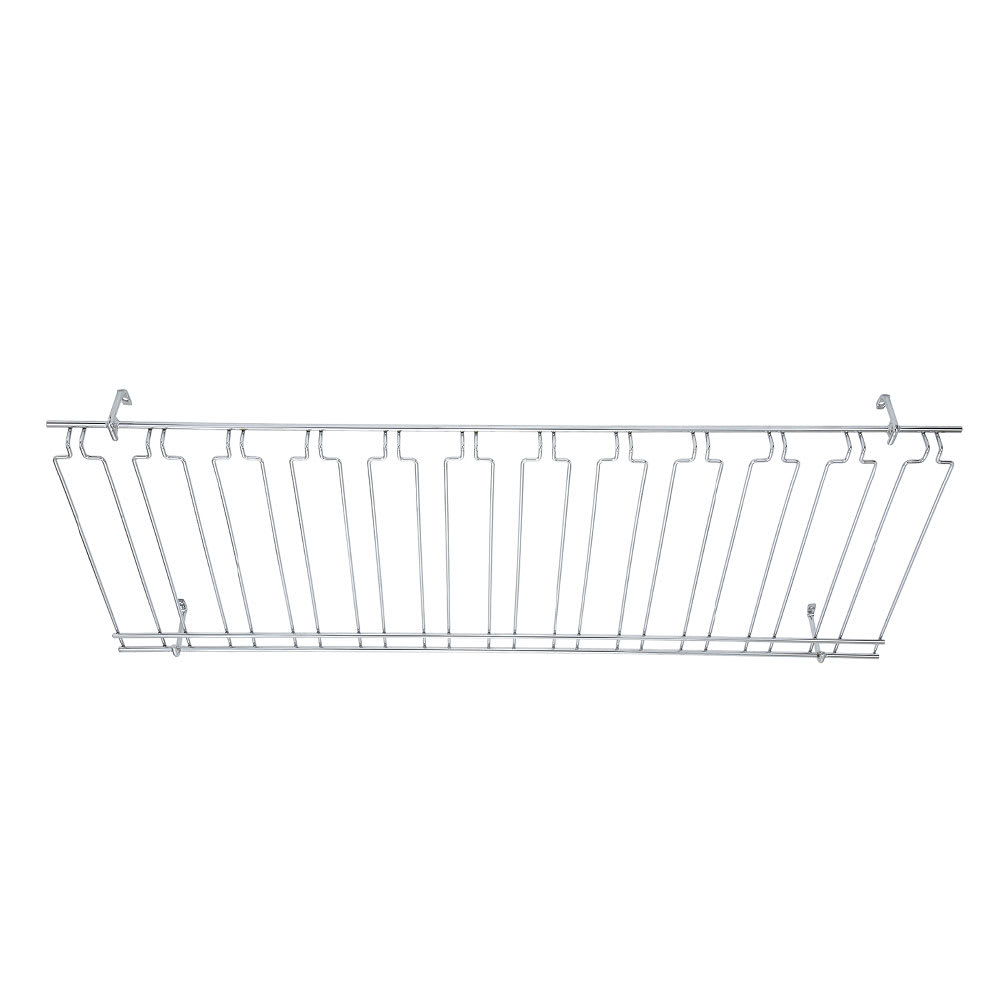 """Winco GHC-1848 Overhead Glass Rack, 18"""" X 48"""" X 4 in, Chrome Plated"""