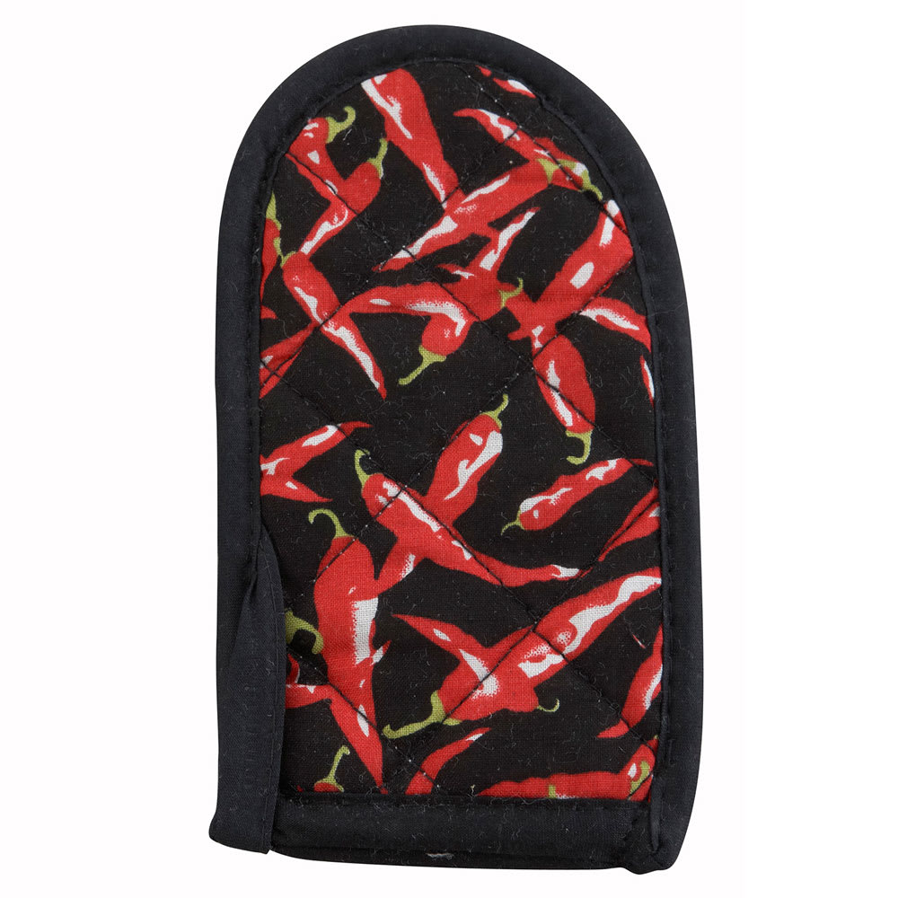 Winco HDH-6C Cotton Handle Holder w/ Chili Pepper Design, 3.5 x 6.5""