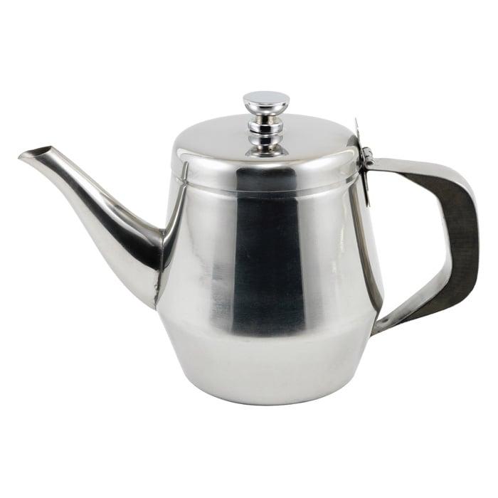 Winco JB2920 20 oz Gooseneck Teapot w/ Lid - Stainless