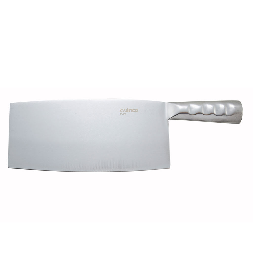 """Winco KC401 Chinese Cleaver w/ Steel Handle, 8.25 x 3.93"""""""