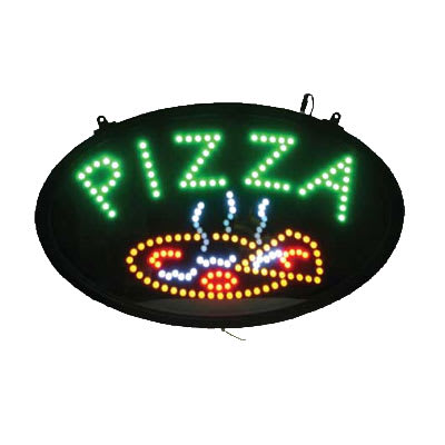 Winco LED-11 Pizza Sign - LED, 3 Flashing Patterns