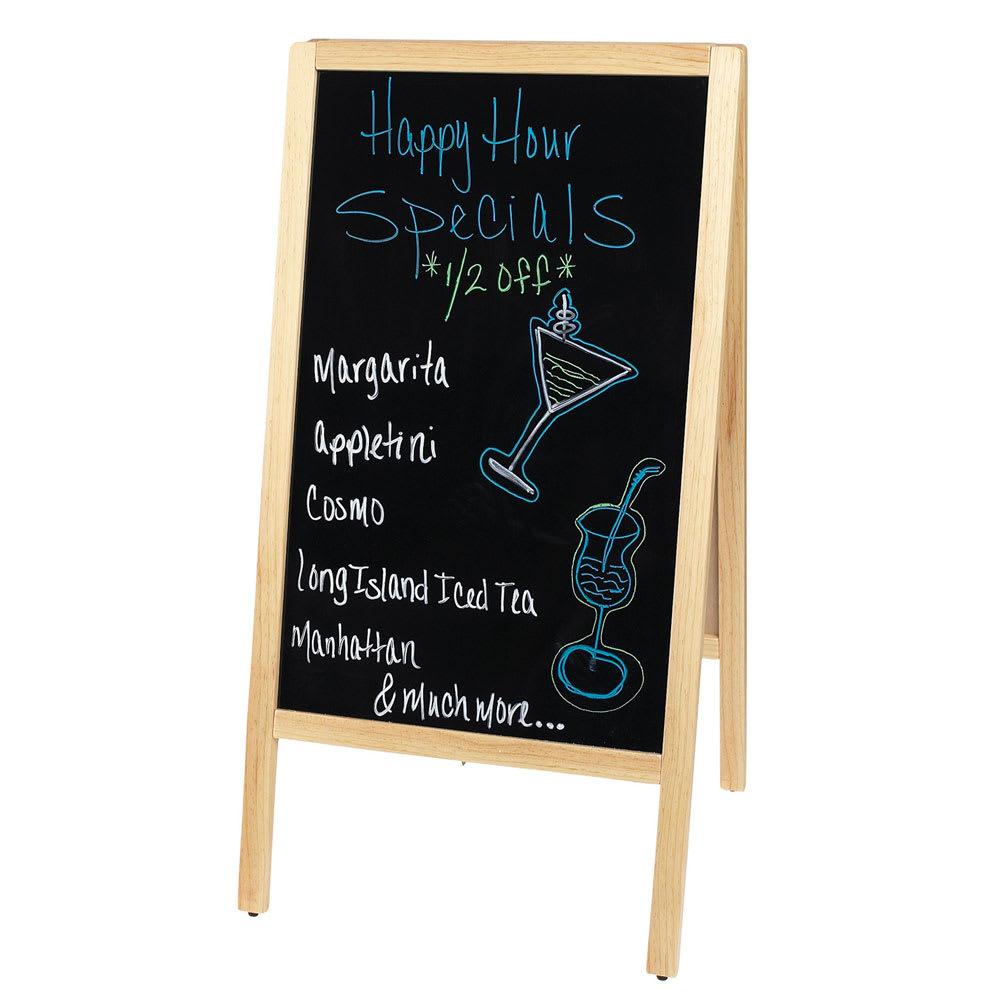 Winco MBAF-1 Sidewalk Marker Board Set w/ (4) Markers & (1) Eraser, Natural Finish