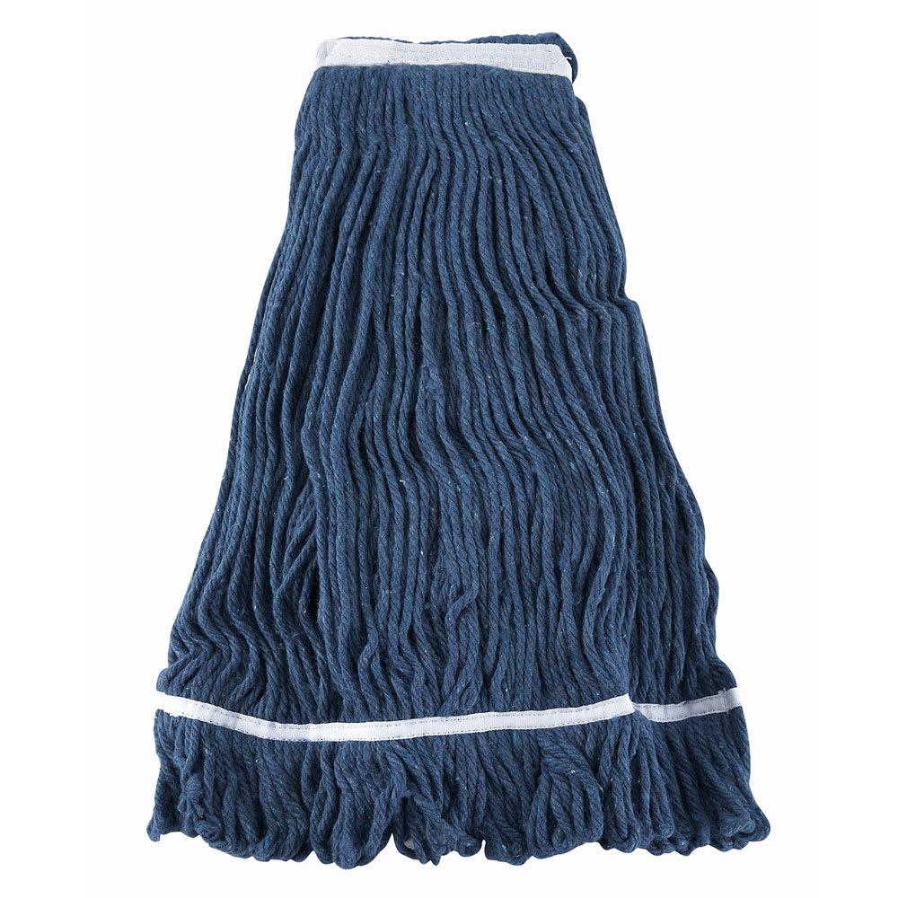Winco MOP-32 Wet Mop Head w/ 32-oz Capacity & Blue Yarn, Looped End