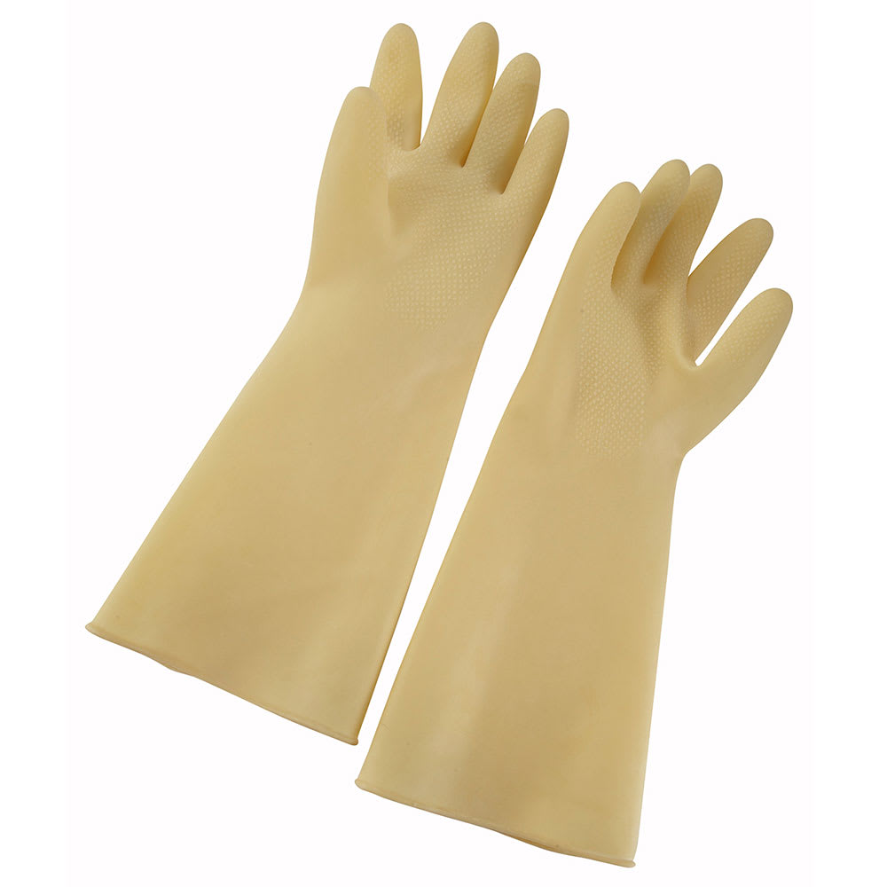 "Winco NLG-816 Small Natural Latex Gloves, 8.5 x 16"", Ivory"