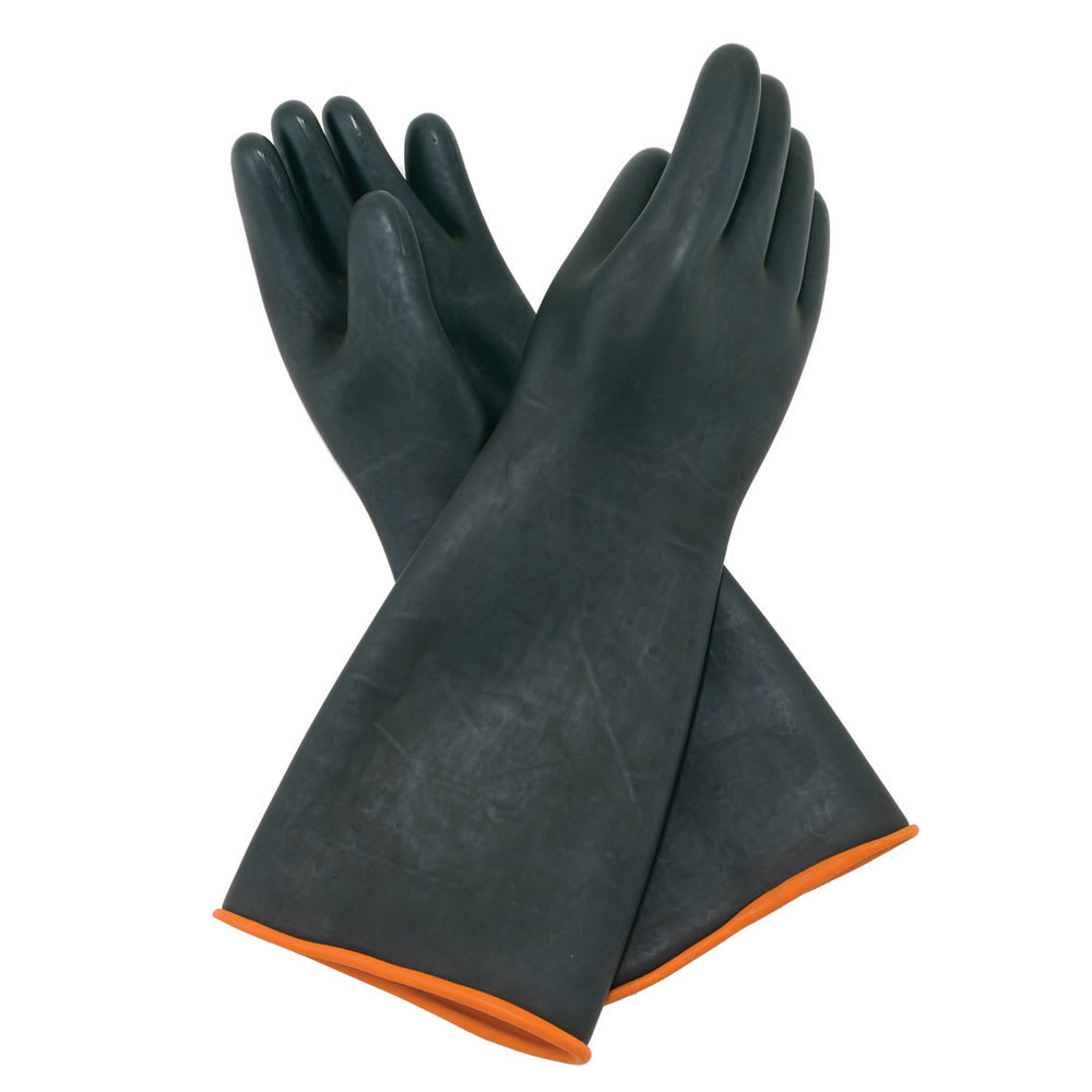 Winco NLGH-18 Heavy Duty Gloves, Natural Latex