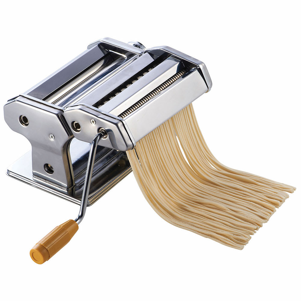 """Winco NPM-7 7"""" Pasta Cutter w/ Detachable Cutter, Stainless"""