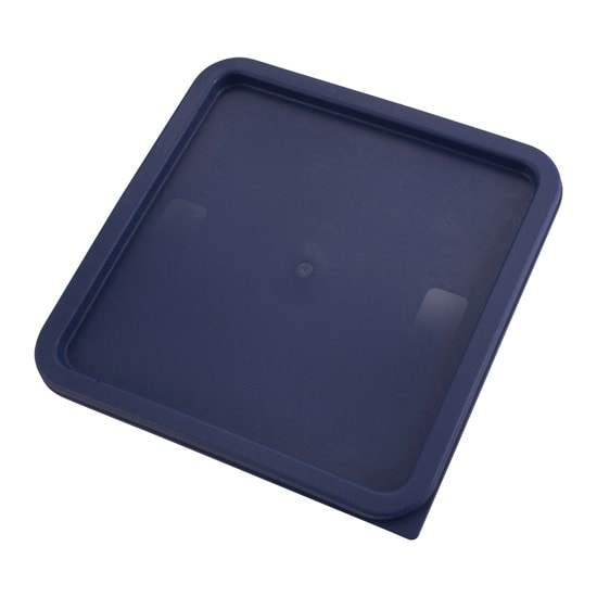 Winco PECC-128 Container Cover for 12, 18 & 22 qt Square Storage Containers, Polyethylene, Blue
